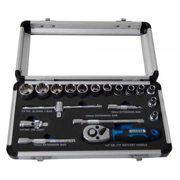 مجموعه 19 عددی آچار بکس لیکوتا مدل ALM-3001